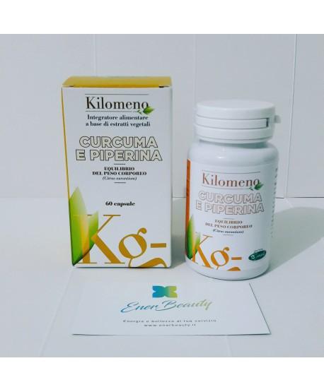 CURCUMA & PIPERINA KILOMENO integratore alimentare a base di estratti Vegetali  60cps SANGALLI